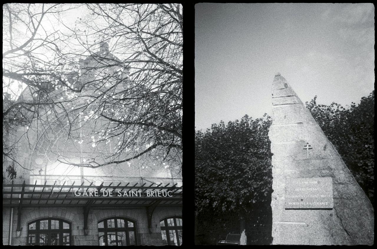 La estación y el monumento a la resistencia, Saint Brieuc, Francia, 2017