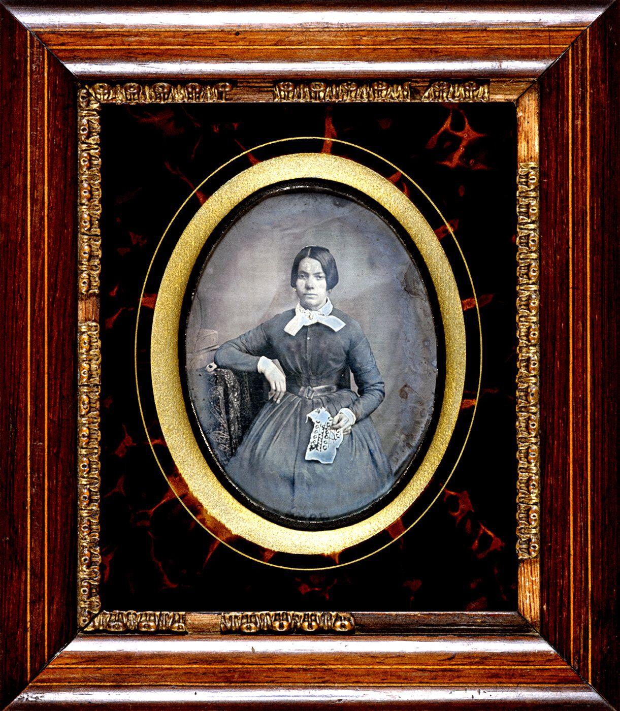 Autoría desconocida Retrato de una mujer, ca. 1848-1860 Daguerrotipo, 1/2 placa CRDI. Colección Joan Basseda Casas