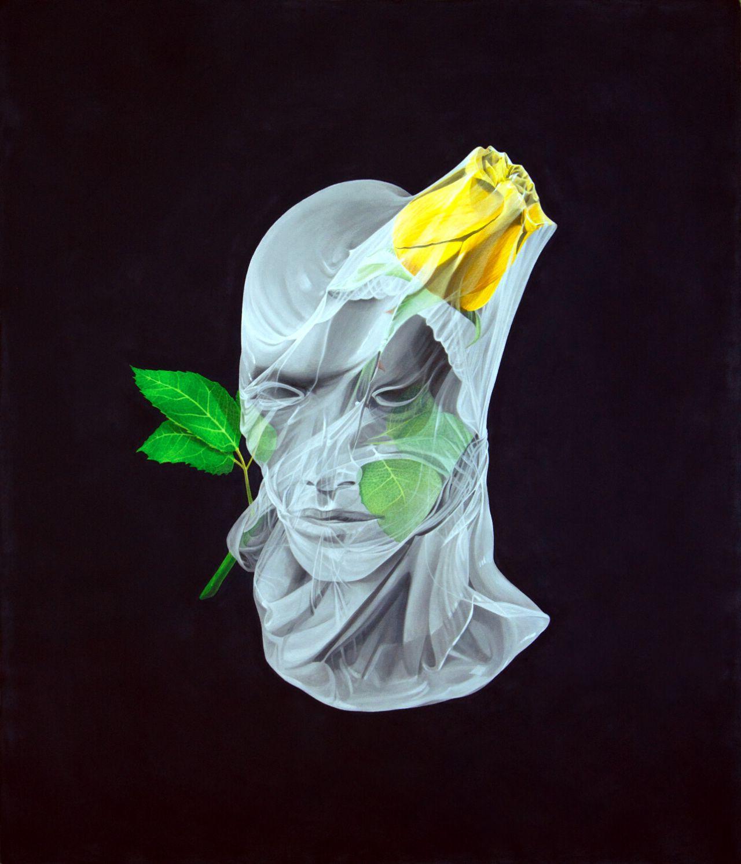 Cuadro de flores (rosa