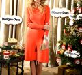Presentación tarta de Navidad 2015 de Häagen-Dazs con Genoveva Casanova