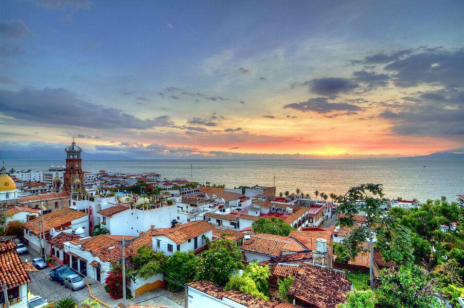 Puerto Vallarta. Puesta de sol