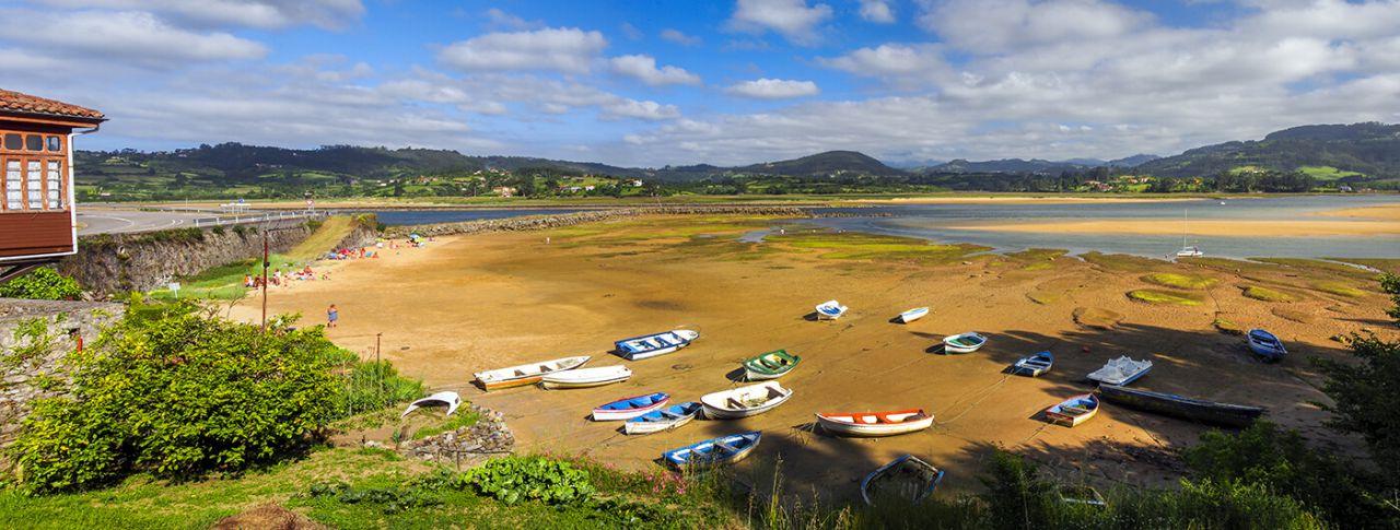 Panoramica playa del Puntal Villaviciosa