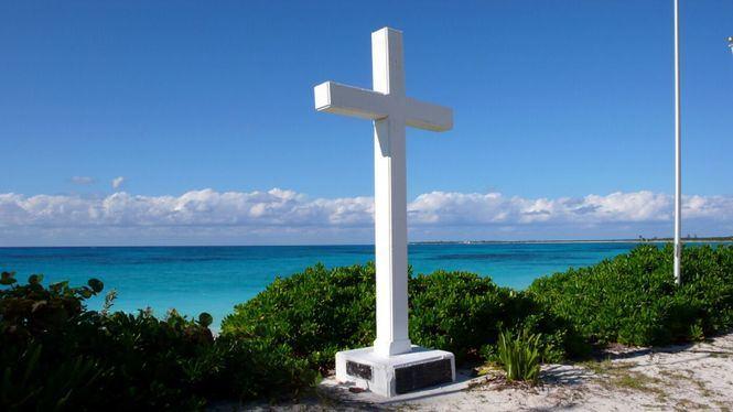 San Salvador, la primera isla divisada por Colón al otro lado del Atlántico