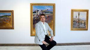 Ricardo Sanz, uno de los pintores del Rey