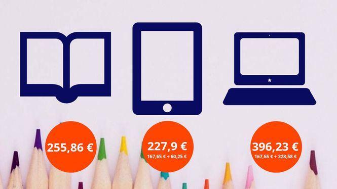 Los libros de texto digitales pueden suponer un ahorro de hasta 88,21 €