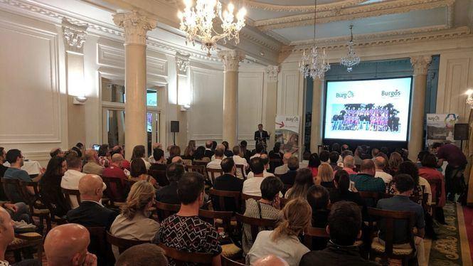 Presentación de Burgos como destino cicloturista en plena Vuelta a España