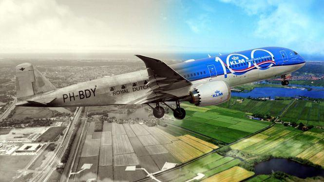 100 años, 100 billetes, campaña de KLM para celebrar en España su centenario