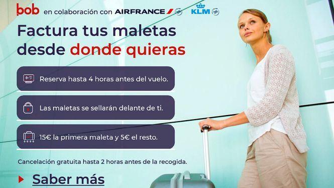 Air France y KLM ofrecen en España un nuevo servicio de recogida de maletas