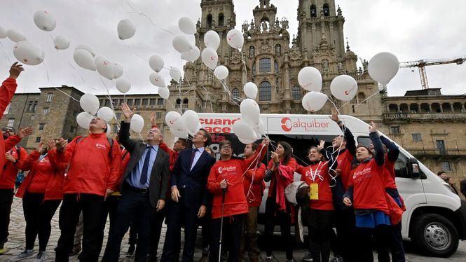 Veinte adolescentes discapacitados han recorrido el Camino de Santiago