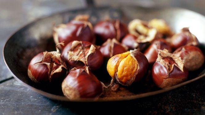Las castañas, cada vez más presentes en gastronomía por estas fechas