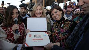 Petra celebró la llegada de su visitante 1 millón