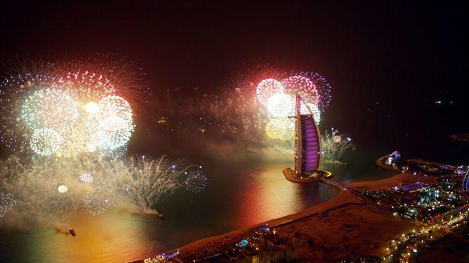 Los lugares emblemáticos de Dubái se preparan para celebrar un espectacular inicio de década
