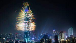 Taipéi 101 arderá entre fuegos artificiales para dar la bienvenida al año 2020