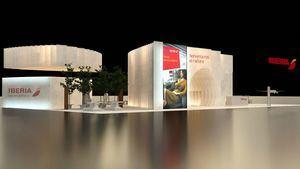 Un stand de papel y la apuesta por la innovación, propuestas de Iberia en Fitur