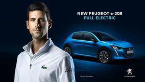 Novak Djokovic embajador de Peugeot y sus modelos electrificados