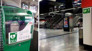 Salvan una vida gracias al desfibrilador de la estación de Atocha Renfe