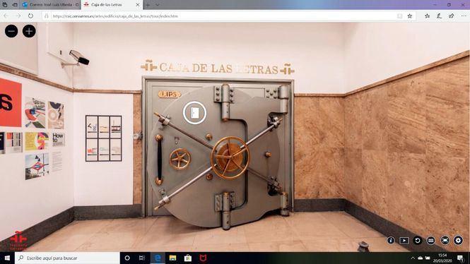 El Instituto Cervantes lanza la primera visita virtual a la Caja de las Letras