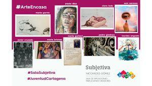 La Sala Subjetiva ofrece visitas online a las exposiciones de jóvenes artistas cartageneros