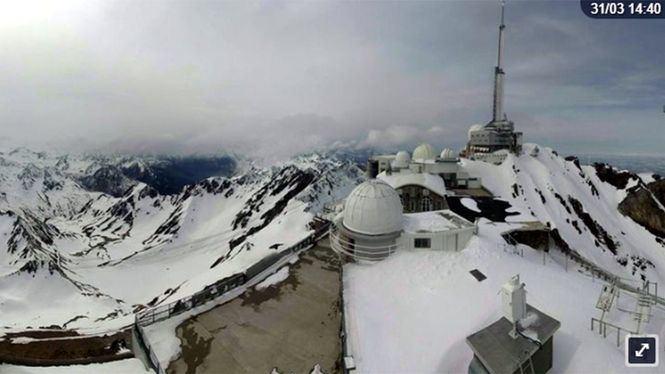 Una web permite disfrutar de las recientes nevadas del Pirineo francés desde casa