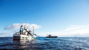 Barco pesca bacalao noruego