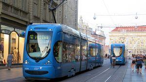 Los tranvías, el vehículo azul de Zagreb