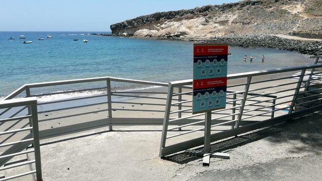 Adeje reabre al público el 90% de sus playas