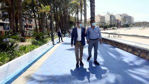 Las playas de Benidorm son seguras, azules y accesibles, asegura el presidente de la Diputación de Alicante