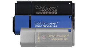 Kingston aumenta a 128GB la capacidad de tres de sus memorias USB cifradas