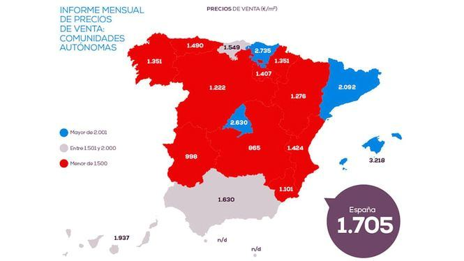 El precio de la vivienda en Madrid crece un 2,14% frente al año pasado