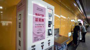 Máquinas expendedoras de mascarillas en las principales estaciones del metro de Taipéi