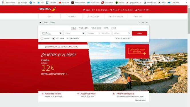 Iberia lanza su campaña de precios, y con flexibilidad para cambiar fecha o destino