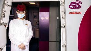 Qatar Airways ofrece el mayor número de aviones con banda ancha de alta velocidad en Asia