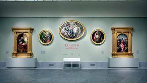 Sala 9 B con el montaje de El Greco en Illescas