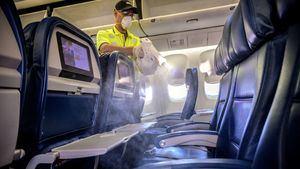 El refuerzo de limpieza a bordo de los aviones reduce el riesgo de infección