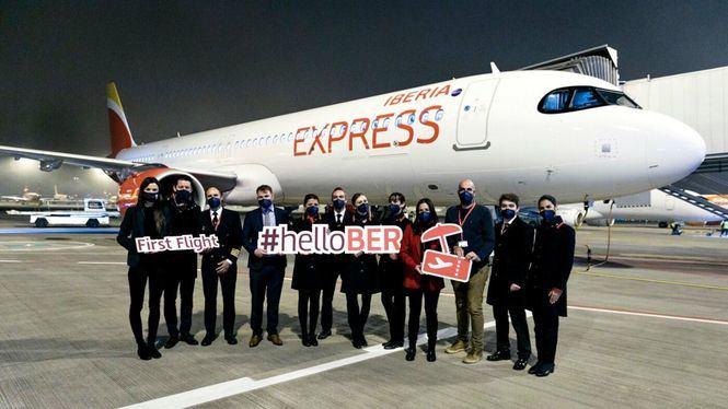 Iberia Express aterriza por primera vez en el nuevo aeropuerto de Berlín