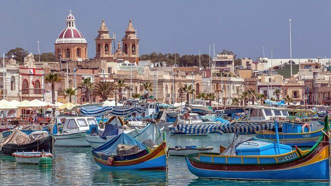Luzzu el tradicional barco de pesca de Malta