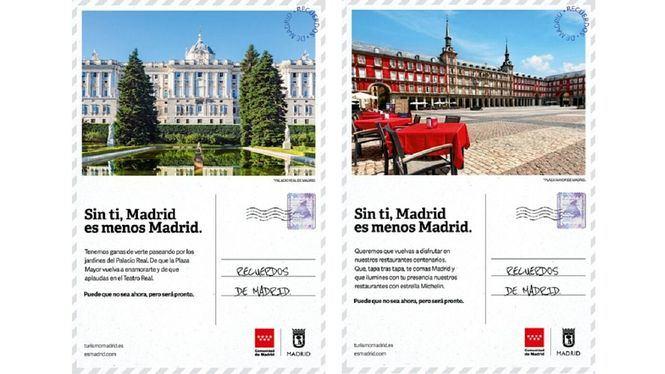Recuerdos de Madrid, campaña de promoción turística del Ayuntamiento y Comunidad
