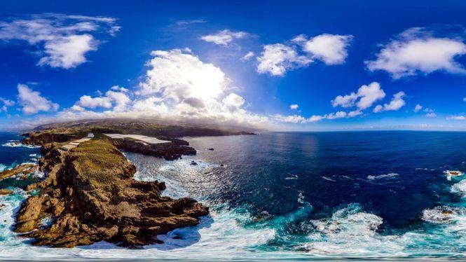 Piscinas de agua marina surgidas por las erosiones volcánicas en Tenerife