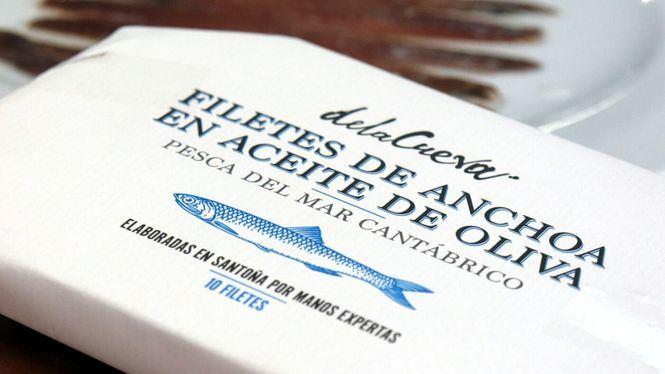 Filetes de anchoa en aceite de oliva de la firma gourmet De la Cueva