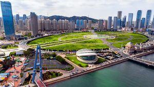Plaza Xinghai, en Dalián (China)
