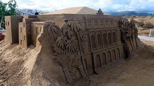 El Belén de Arena de Las Palmas de Gran Canaria comienza a recibir visitantes