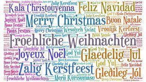 Felicitar las fiestas navideñas en cuatro idiomas diferentes