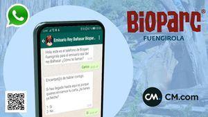 BIOPARC Fuengirola ofrece a los niños la posibilidad de escribir al emisario real por WhatsApp