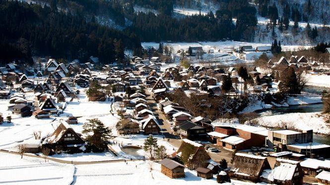 Shirakawa-go, una postal muy característica del invierno japonés