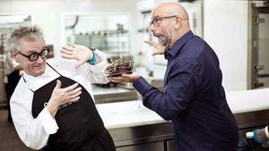 El pastelero Christian Escribà y el creativo Pep Torres, lanzan una tarta que nos ayuda a reír