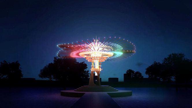 Las instalaciones del Festival de los Faroles 2021 de Taiwán se exhiben en sitios turísticos