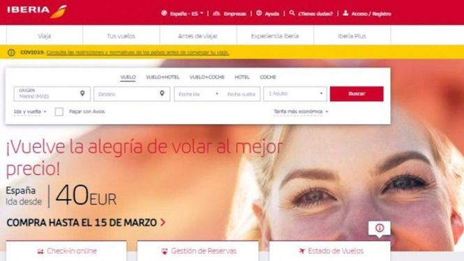 Iberia lanza una nueva tarifa, la Confort