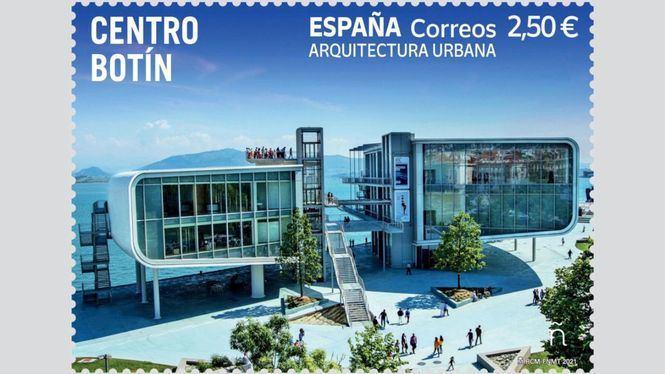 Correos dedica un sello al Centro Botín de Santander en su serie Arquitectura Urbana