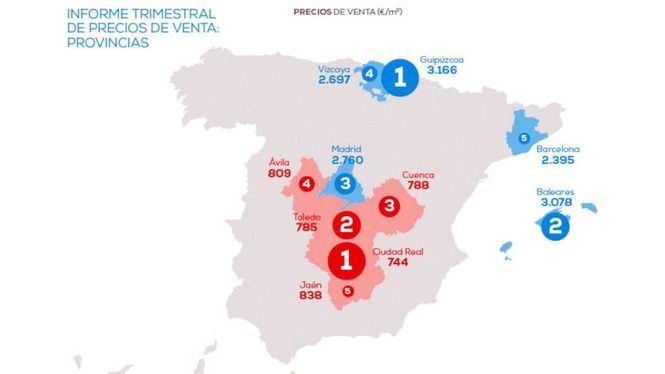 Madrid la tercera región que más sube el precio de la vivienda en el primer trimestre del año