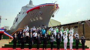 Botadura del primer buque anfibio de transporte fabricado en Taiwán